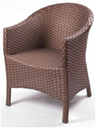 Кресло для ресторана, кафе, летней площадки из искусственного ротанга, фото 1