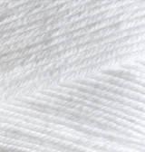 Пряжа Alize BELLA белый №55 хлопковая для ручного вязания, летняя