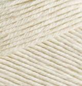 Пряжа Alize BELLA молочный №01 хлопковая для ручного вязания, летняя