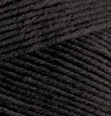 Пряжа Alize BELLA черный №60 хлопковая для ручного вязания, летняя