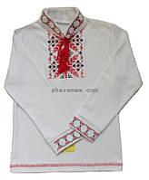 Вышиванка для мальчика (машинная вышивка крестиком, длинный рукав), рост 134-140 см