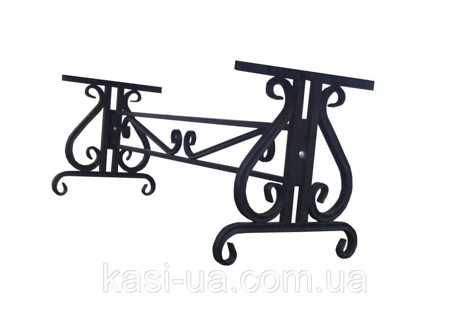 Опора (каркас) лавки садово-парковой металическая № 6 (1,5 м.)