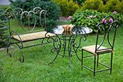Кованые лавочки ,столы,стулья,беседки,мостики все для сада и дома