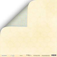 Лист двусторонней бумаги от Scrap Мир, Little Bear - Дамаск, 30x30 см, 1 шт