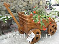 Садовый декор Тачка деревянная Прованс, фото 1