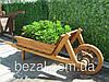 Тачка деревянная декоративная Мещанка