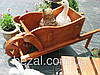 Садовая декоративная тачка деревянная Гармония