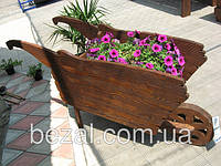 Телега  деревянная для сада Русская сказка