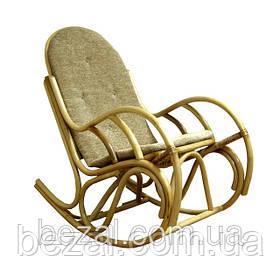 Кресло качалка из ротанга Бриз с подушкой