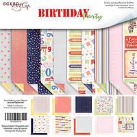 Набор двусторонней бумаги от Scrap Мир - Birthday Party, 20x20 см, 10 листов