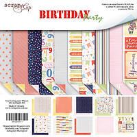 Набор двусторонней бумаги от Scrap Мир - Birthday Party, 30x30 см, 10 листов