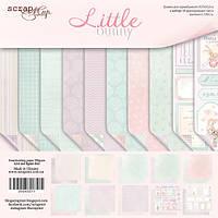 Набор двусторонней бумаги от Scrap Мир - Little Bunny, 30x30 см, 10 шт