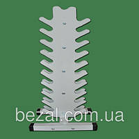 Стойка для гантелей металлическая вертикальная Елочка на 21 ед