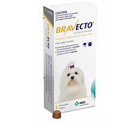 Bravecto (Бравекто) Таблетки от блох и клещей для собак весом от 2 до 4,5 кг (112,5 мг)