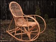 Кресло-качалка плетенное из лозы № 3 Н/З