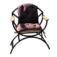 Стул садовый металлический с деревянными сиденьями и подлокотники из ЯСЕНЯ