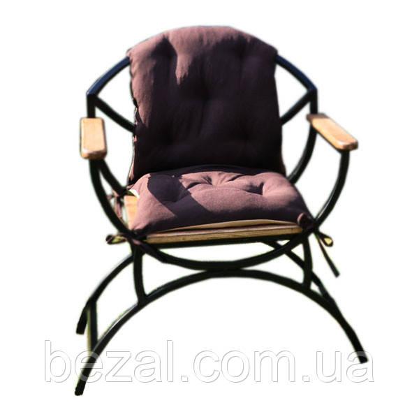 Стул садовый металлический с деревянными сиденьями и подлокотники из ЯСЕНЯ - ТМ BEZAL (ТМ Безал) в Запорожье