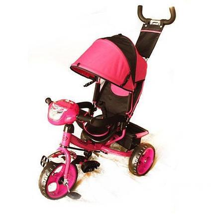 Детский трехколесный велосипед М 3115-6Н розовый, фото 2