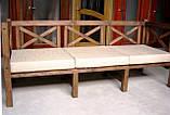 Стіл Еміне 2,2 м, дерев'яні меблі для дачі Еміне, фото 4