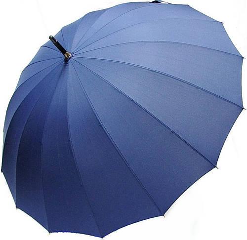 Механический надежный мужской зонт-трость DOPPLER (ДОППЛЕР) 74163DMA синий