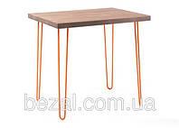 Стол Тандем прямоуголный металлический с деревянной столешницей  ИЗ ОЛЬХИ, фото 1