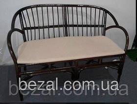 Мебель садовая плетенная из ротанга Флорида  диван с матрасом