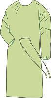 Одноразовый халат на завязках белого цвета