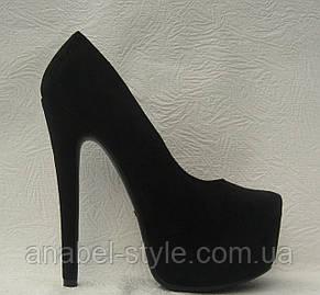 Туфли женские замшевые на каблуке Лабуте$ Loubouti$ Код 165, фото 2