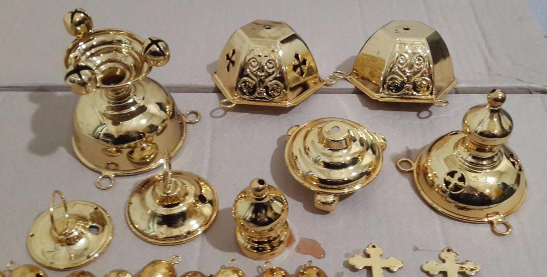 Изготовление религиозных символов из пластика с хромированием и позолотой