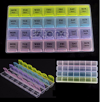 Таблетница Pill Box 4x7 недельная