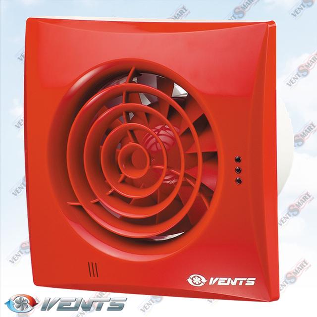 VENTS QUIET 100 RED ― внешний вид (фото, изображение) вентилятора для ванной белого цвета. Вентилятор обладает изысканным и современным дязайном, имеет малое энергопотребление, высокую продуктивность и низкий уровень шума. Модификации Вентс Квайт: со шнурком, с реле времени, с реле влажности, с датчиком движения до 4 м.
