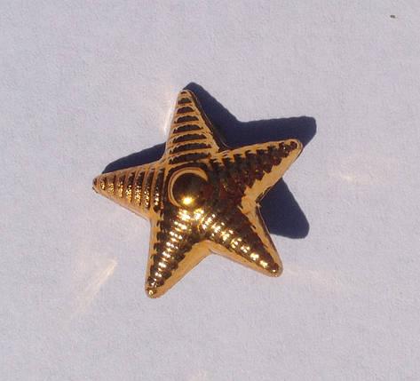 Звезда 13мм ВСУ золото, фото 2