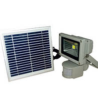 Прожектор LED cолн. бат. + акку 10w с д/дв IP65 800LM LEMANSO / LMP9-10
