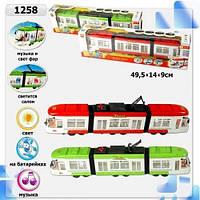 1258 Трамвай (1011848), батар., в кор. 48,5*7,5*13,5см