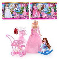 """Кукла """"Defa Lucy""""арт 6074-наряды, с дочкой, коляска, лошадка-качалка, 3 вида, в кор-ке, 53-32-6см"""