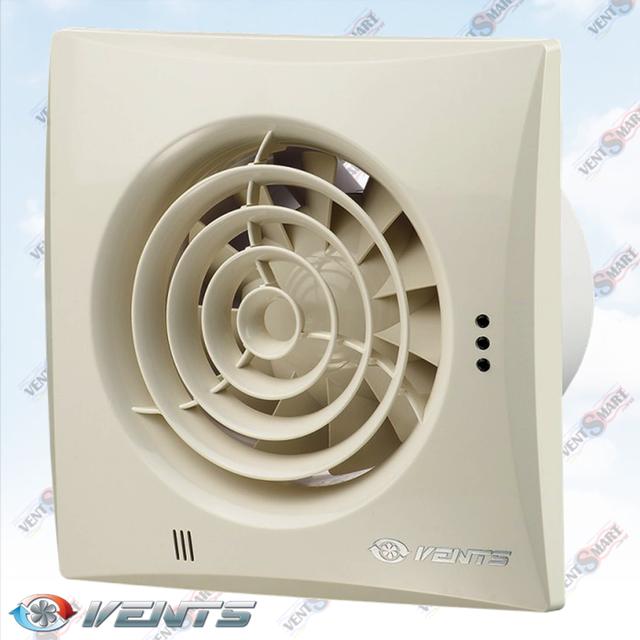 VENTS QUIET 100 VINTAGE ― внешний вид (фото, изображение) вентилятора для ванной белого цвета. Вентилятор обладает изысканным и современным дязайном, имеет малое энергопотребление, высокую продуктивность и низкий уровень шума. Модификации Вентс Квайт: со шнурком, с реле времени, с реле влажности, с датчиком движения до 4 м.