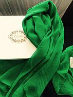 Шарф зеленый шелковый