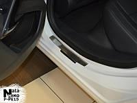 Накладки на пороги Premium Peugeot 508 2011-