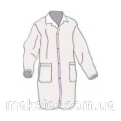 Одноразовый халат на липучках белого цвета