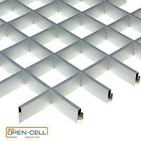 Потолок Грильято 60х60х40 серый  оцинкованный Open-cell