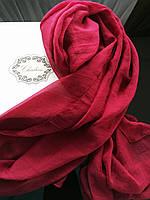 Шарф бордовый шелковый