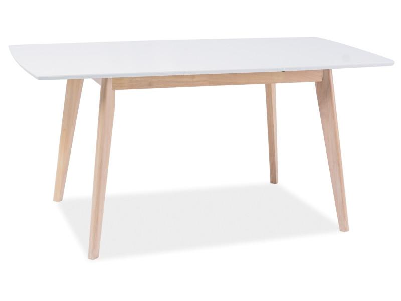 Стол обеденный деревянный Combo II Signal белый/дуб беленый