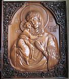 Федоровская икона Божьей Матери резная, фото 2