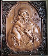Федоровская икона Божьей Матери резная