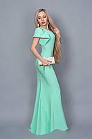 Длинное вечернее платье мод 238-3 (А.Н.Г.) размер 44,46,48 мята
