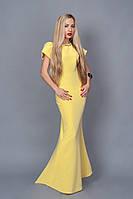Длинное вечернее платье мод 238-4 (А.Н.Г.) размер 40,44,46,48 желтое