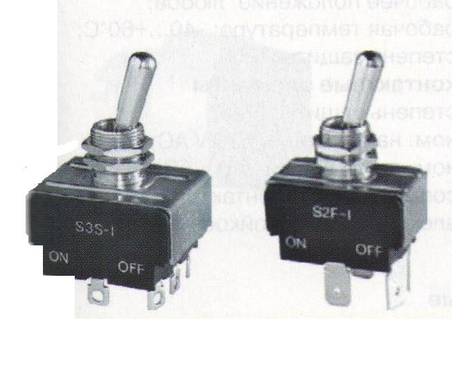 Тумблер S3F-С/2Т 3 полюса под fast-on 6.3мм, вкл-откл-вкл без фиксации Италия