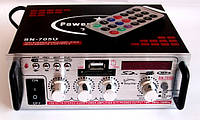 Усилитель (ресивер) UKC SN-705U MP3/SD/USB/AUX/FM 12v / 220v, фото 1