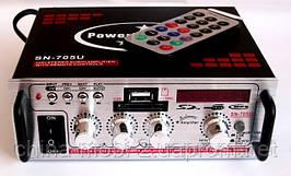 Усилитель (ресивер) OPERA SN-705U MP3/SD/USB/AUX/FM 12v / 220v, фото 3