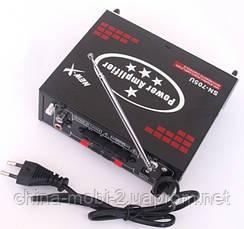 Усилитель (ресивер) UKC SN-705U MP3/SD/USB/AUX/FM 12v / 220v, фото 3
